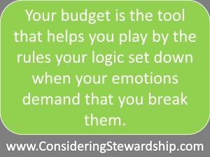 Your budget is just a tool to help control your spending emotions