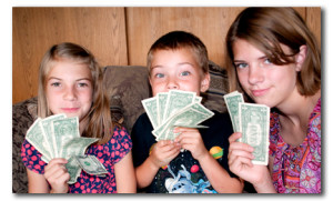 Kids manage money