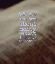 5 Bible verses about money