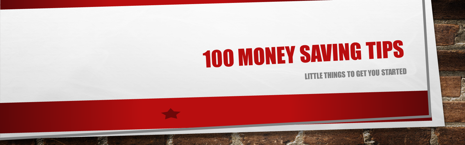 100 money savings tips