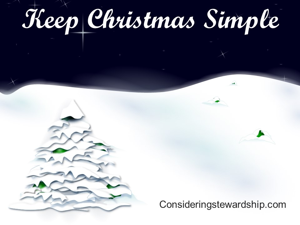 Keep Christmas Simple