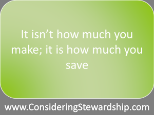 It isn't how much you make